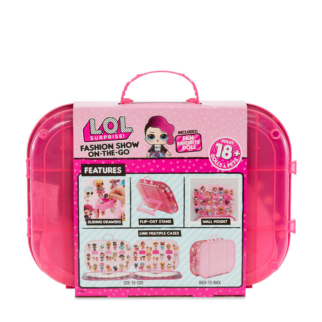 L.O.L. Surprise! carrying case bright pink, Roze