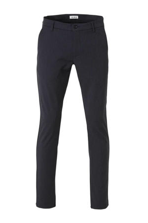 regular fit pantalon donkerblauw melange