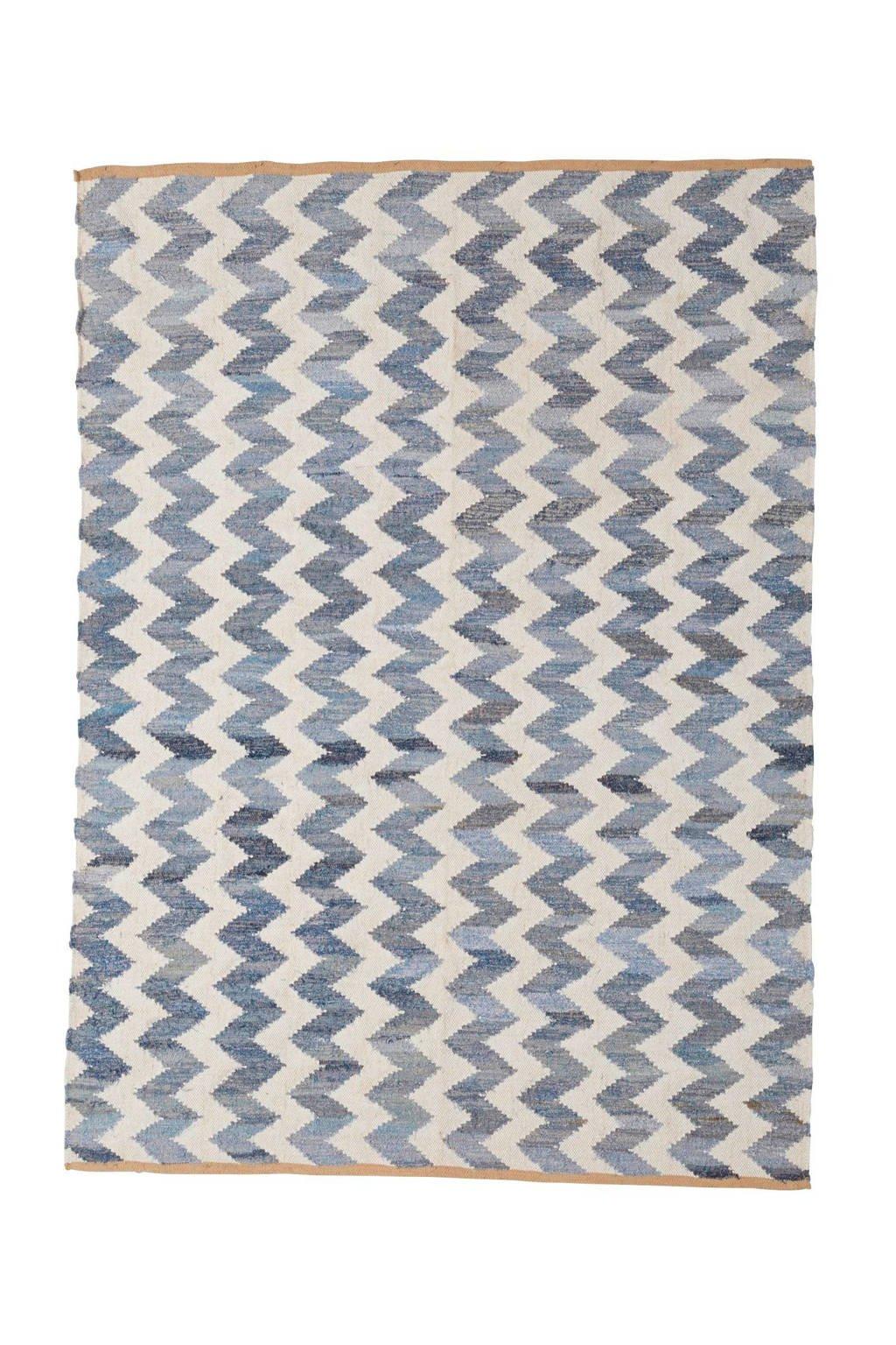 whkmp's own Vloerkleed  (230x160 cm), Denim/wit