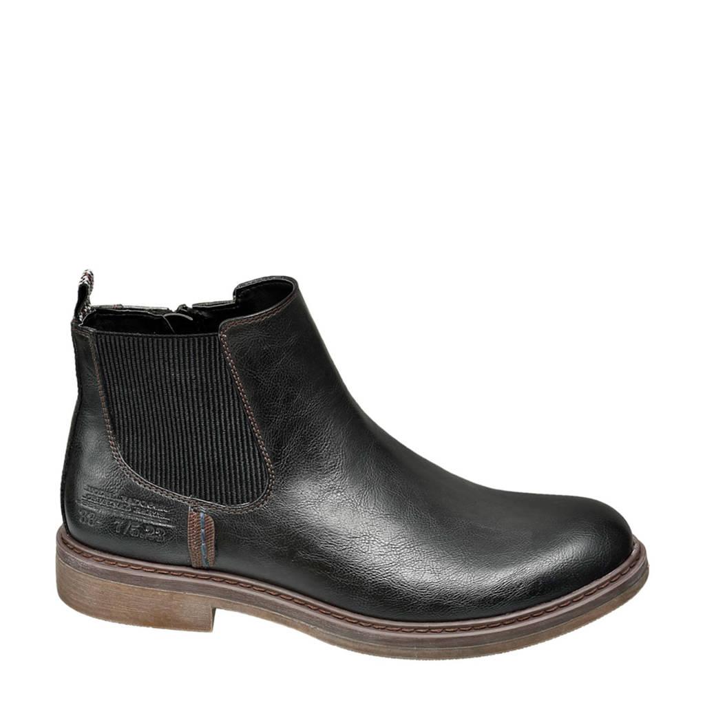 Venice   chelsea boots zwart, Zwart