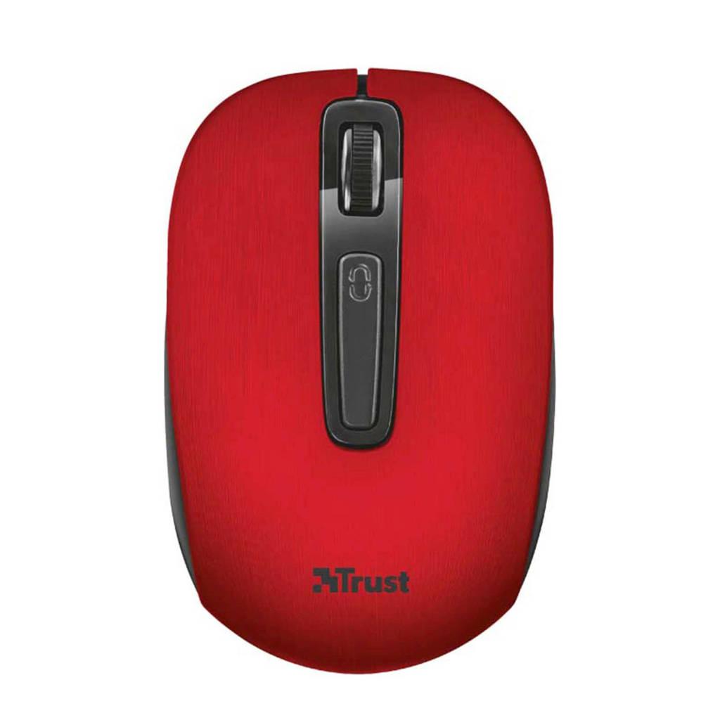 Trust Area draadloze muis, Zwart, Rood