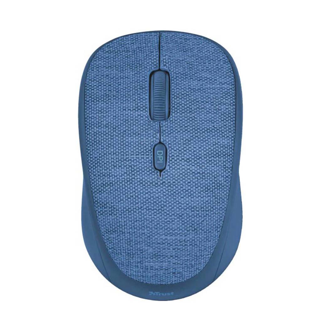 Trust  Yvi Fabric draadloze muis blauw, Blauw