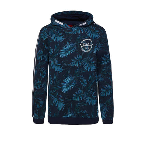 WE Fashion hoodie van biologisch katoen donkerblau