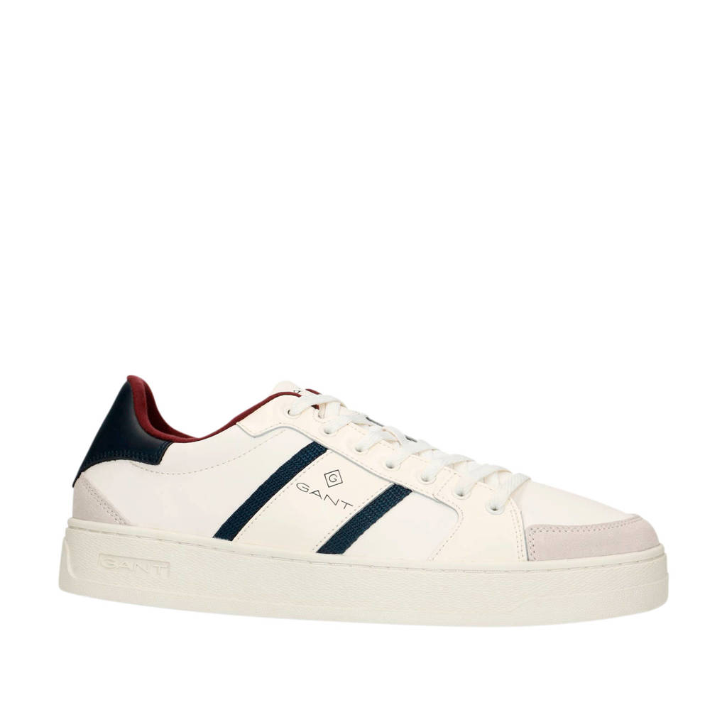 GANT   leren sneakers wit/multi, Wit/multi