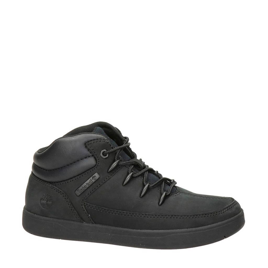 Timberland   Davis Square nubuck sneakers zwart, Zwart