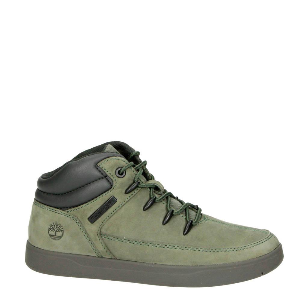 Timberland   Davis Square nubuck sneakers kaki, Kaki