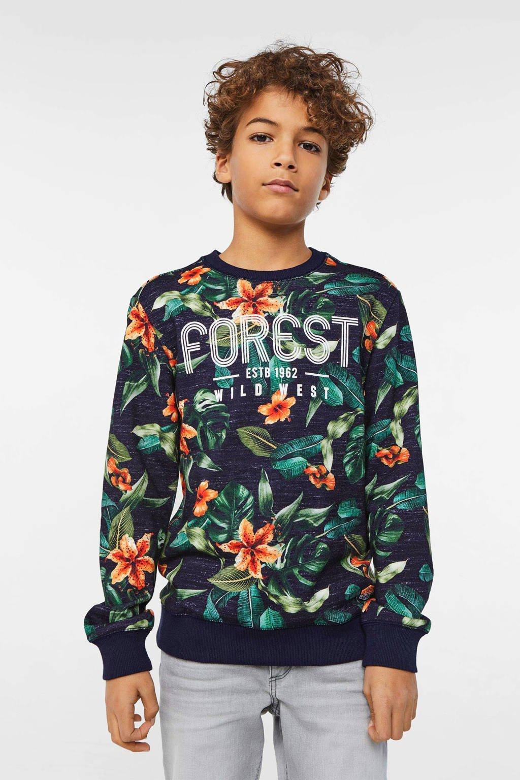 WE Fashion gebloemde sweater multicolor, Multicolor