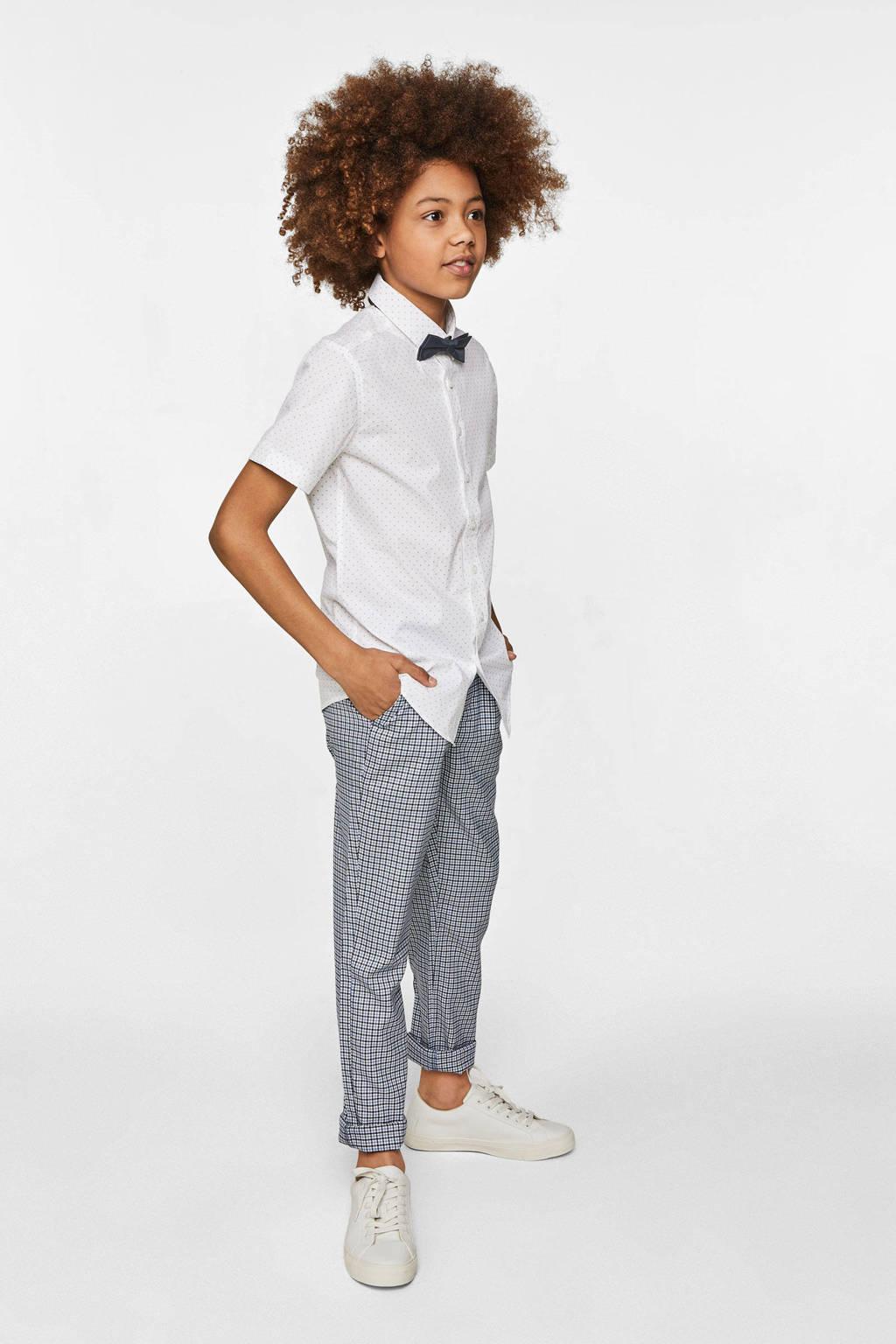 WE Fashion overhemd wit/zwart, Wit/zwart