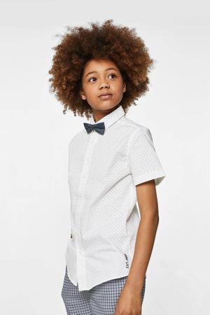 overhemd wit/zwart