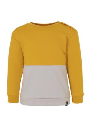 sweater okergeel/grijs