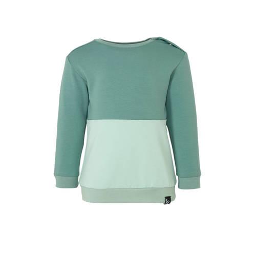 Babystyling sweater petrol/oudgroen