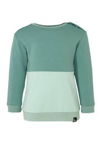 Babystyling sweater petrol/oudgroen, Petrol/oudgroen