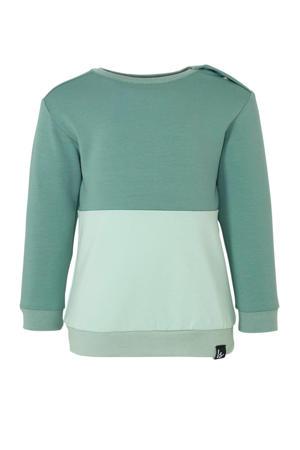 sweater petrol/oudgroen