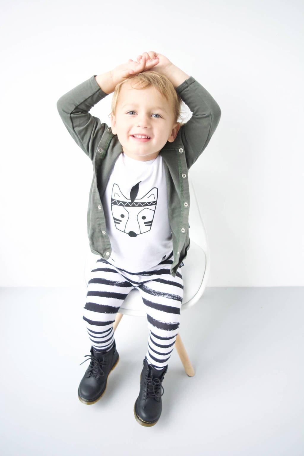 Kidstyling vest donkergroen, Khaki