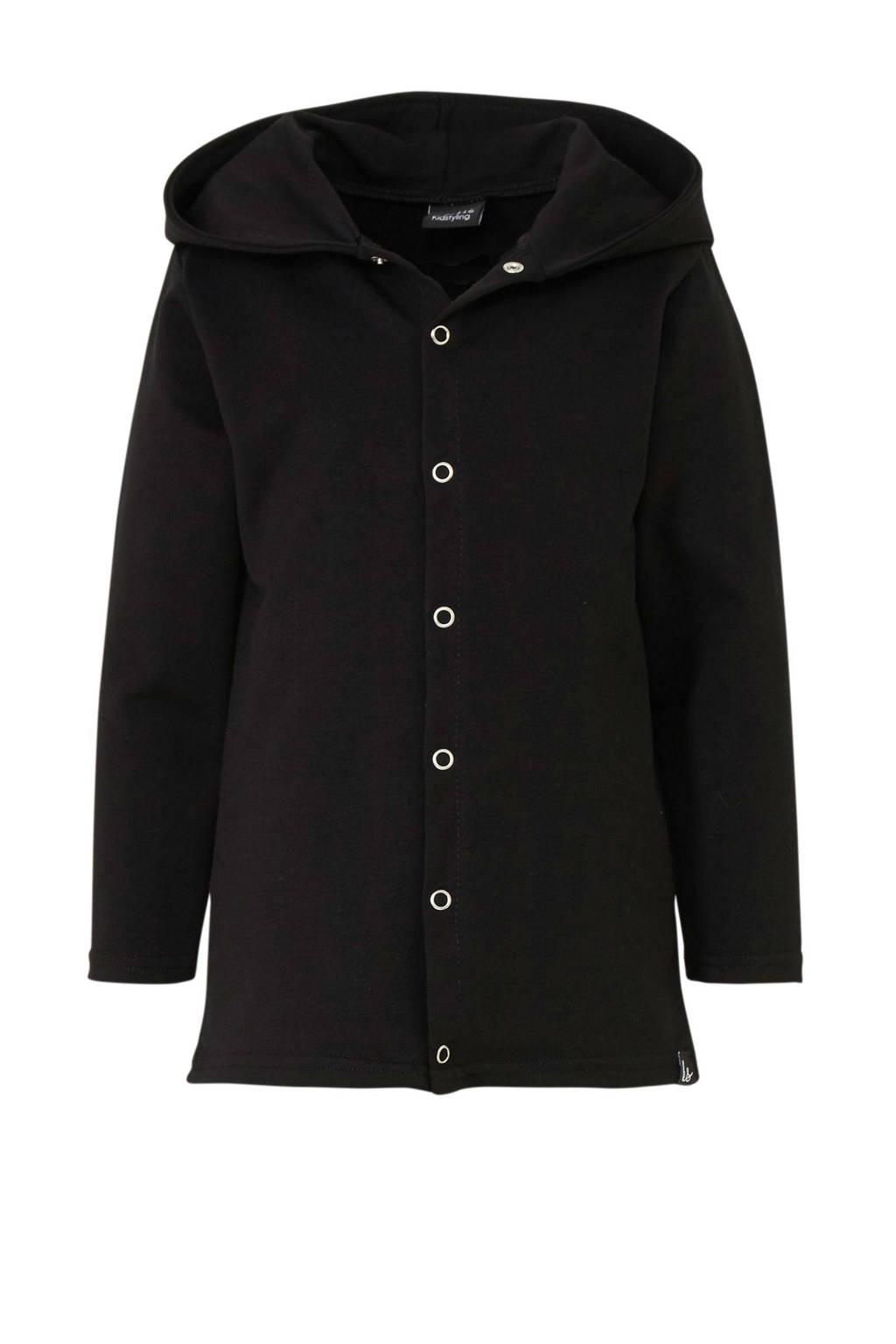 Kidstyling vest zwart, Zwart