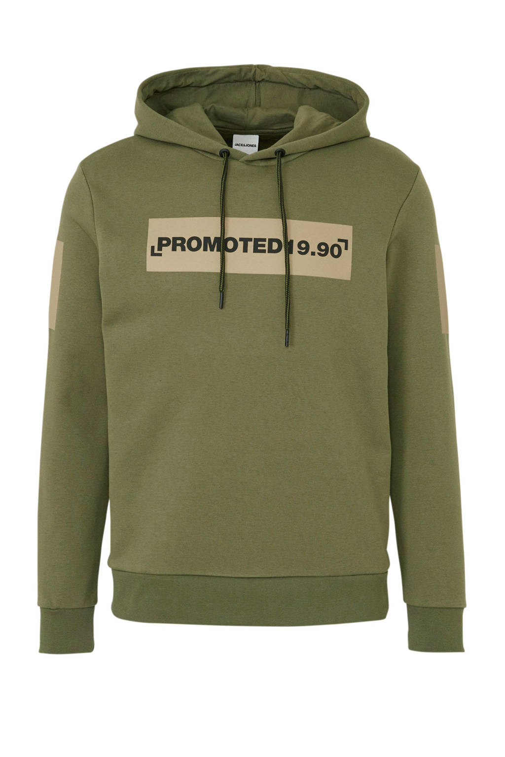 JACK & JONES CORE hoodie met tekst groen, Groen