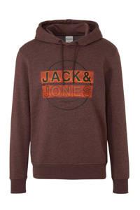 JACK & JONES CORE hoodie met printopdruk bruin, Bruin