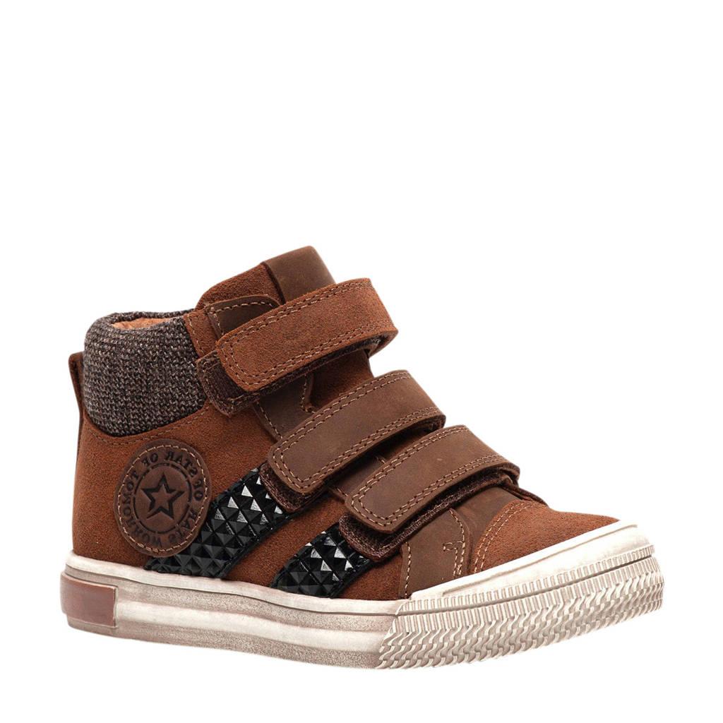 TwoDay   leren sneakers bruin, Bruin