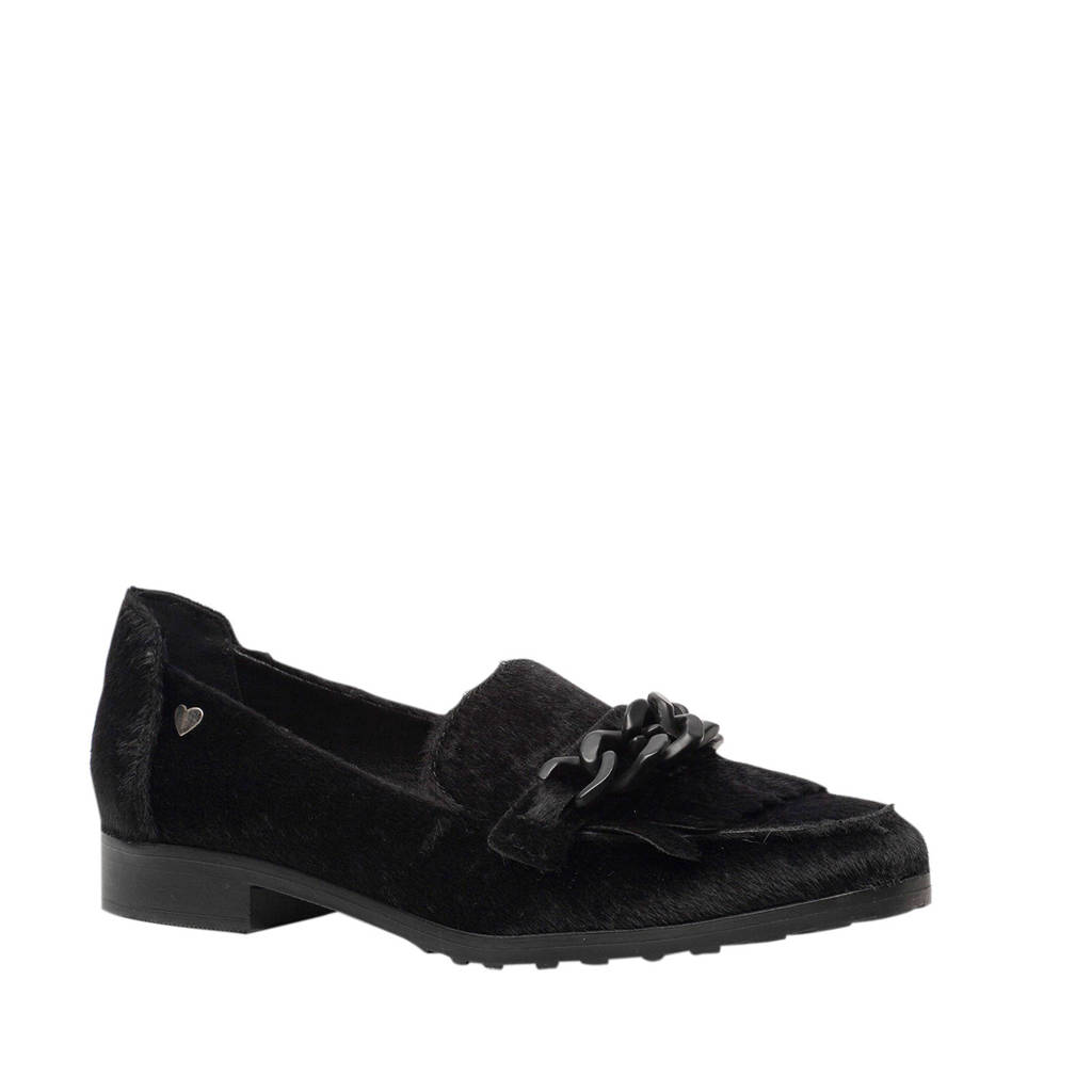 Scapino Blue Box   loafers zwart, Zwart