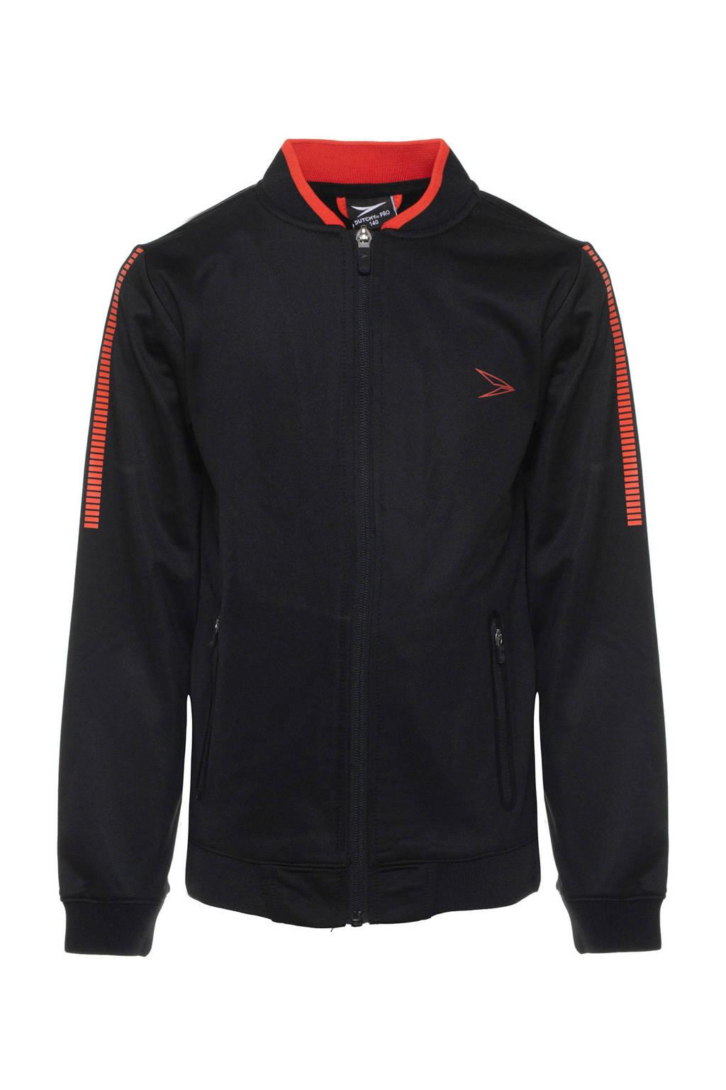 Scapino   sportvest zwart/rood, Zwart/rood