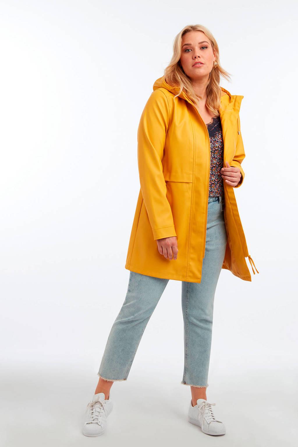 MS Mode regenjas oker geel, Oker geel