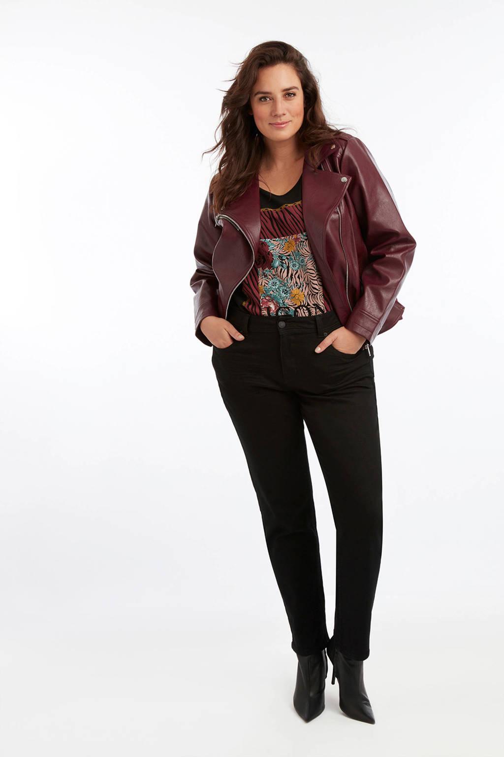 MS Mode straight fit jeans zwart, Zwart
