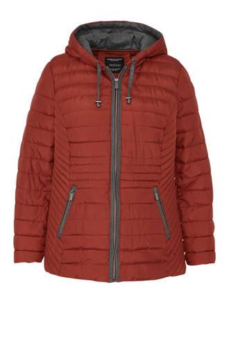XL Yessica gevoerde jas bruin