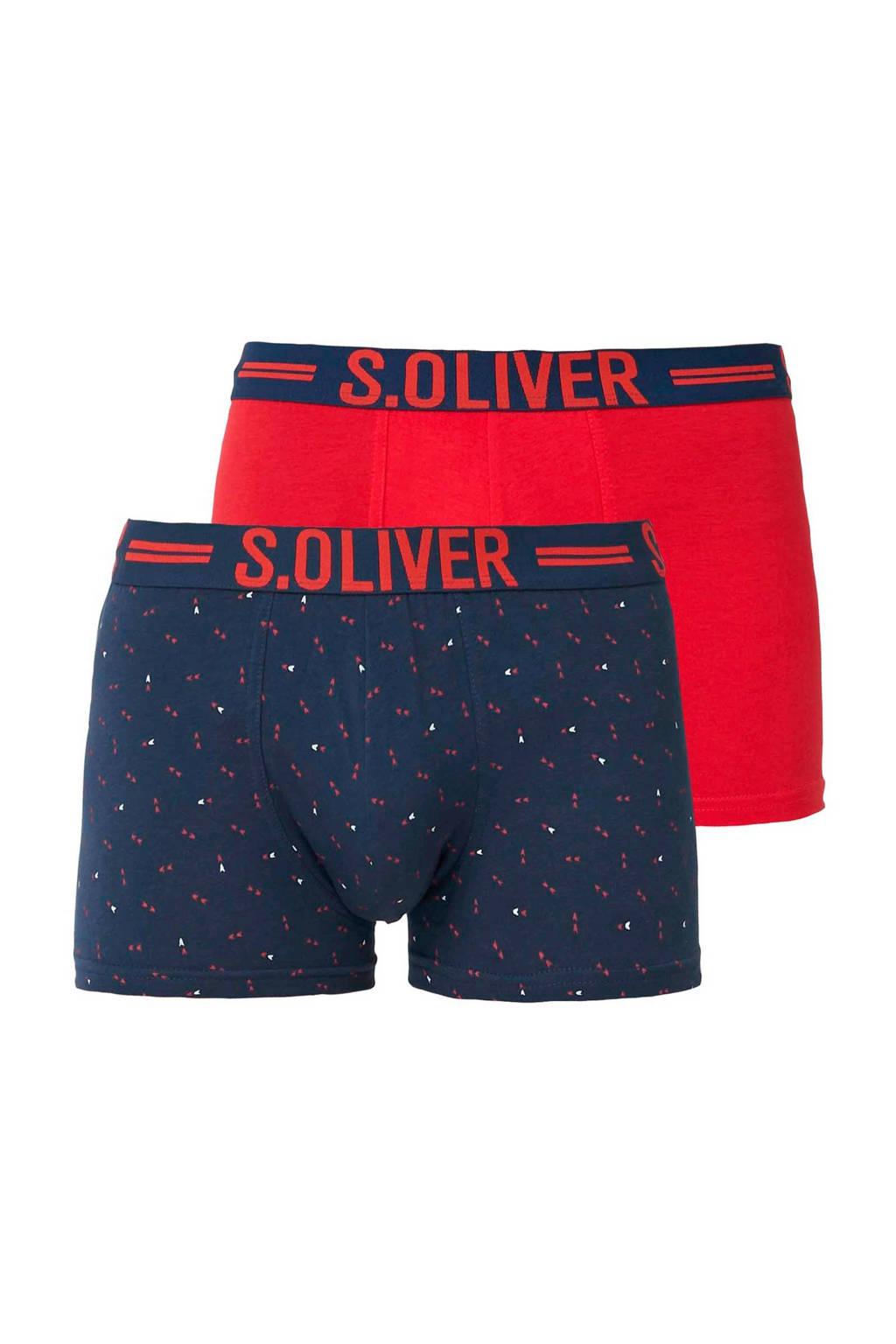 s.Oliver boxershort (set van 2), Marine/rood