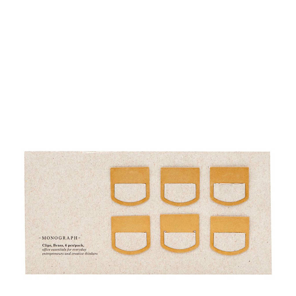 Monograph papierklem, Goud