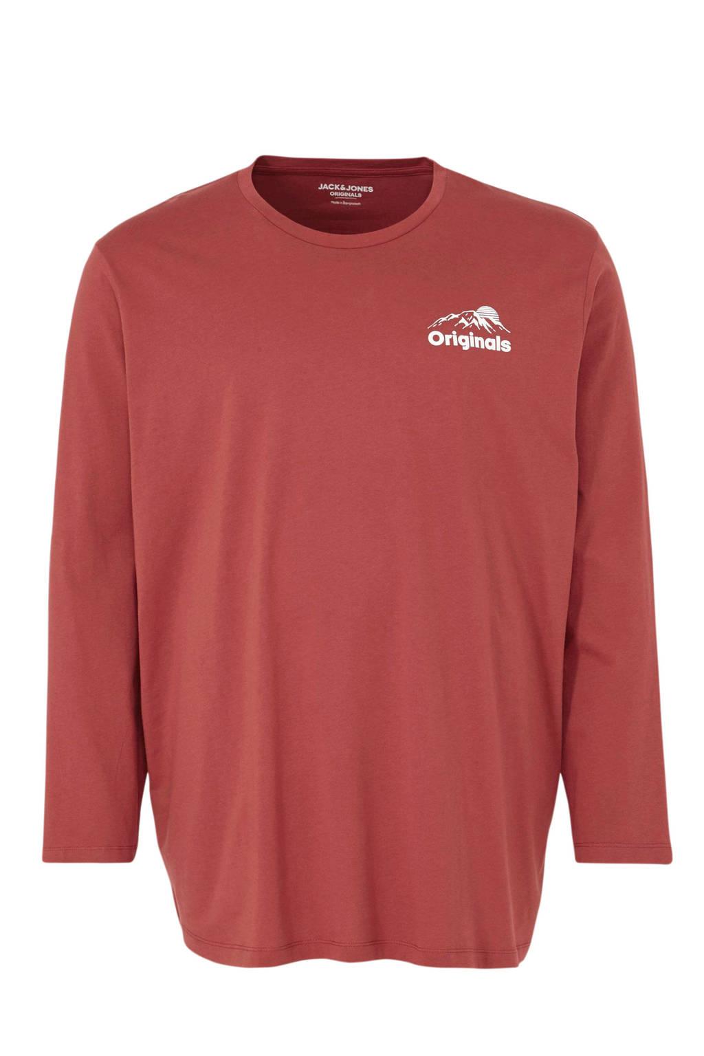 JACK & JONES PLUS SIZE T-shirt met tekst rood, Rood