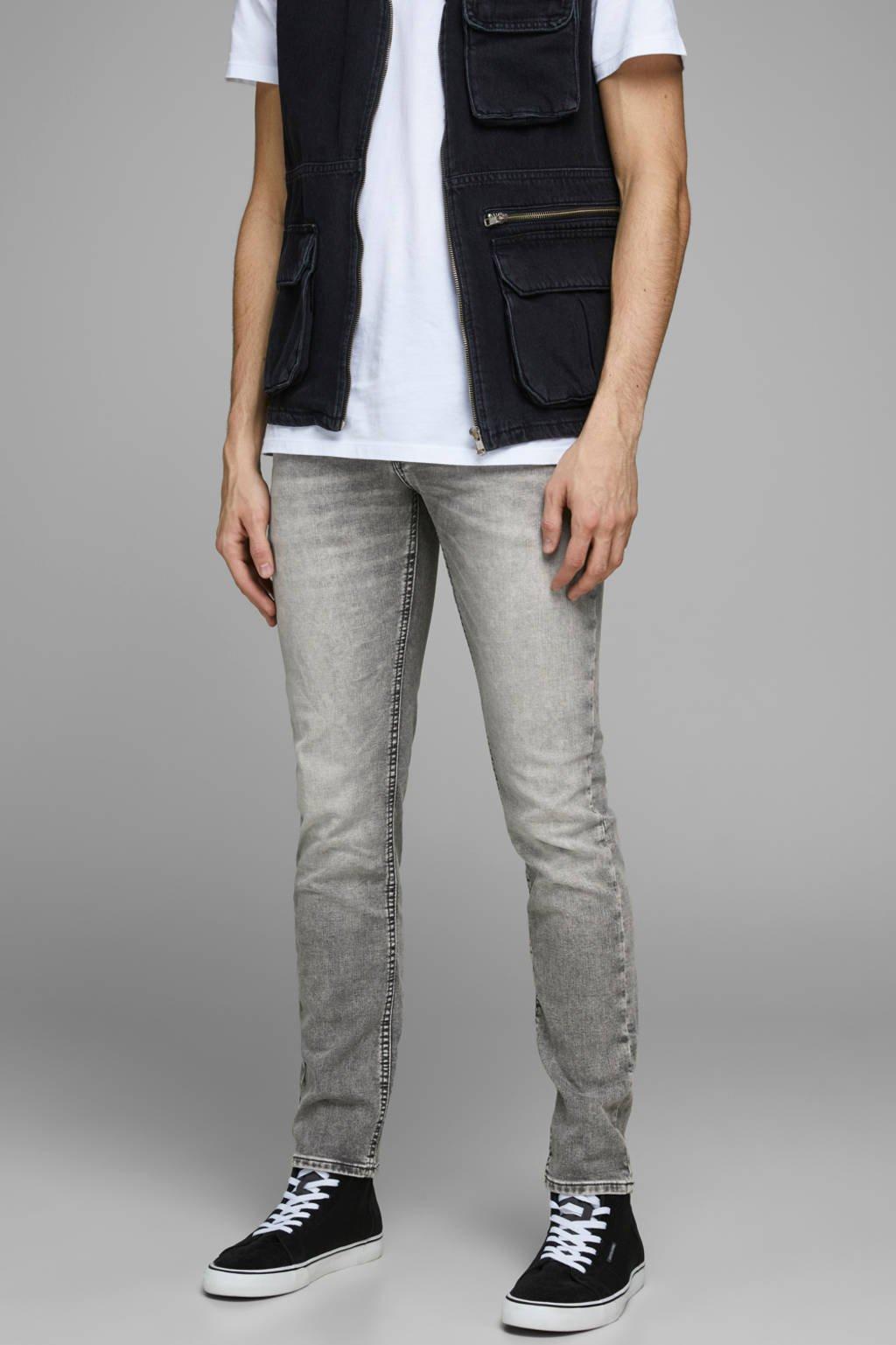 JACK & JONES JEANS INTELLIGENCE slim fit jeans Glenn black denim, Grey denim