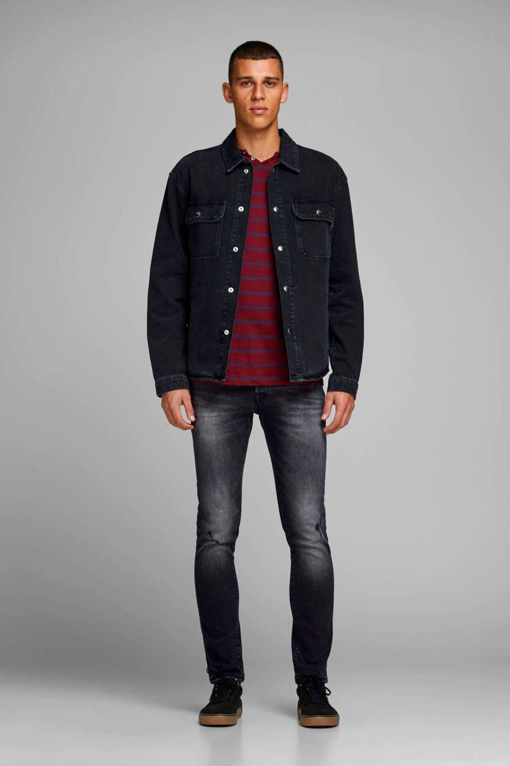 JACK & JONES JEANS INTELLIGENCE slim fit jeans Glenn black denim, Black denim