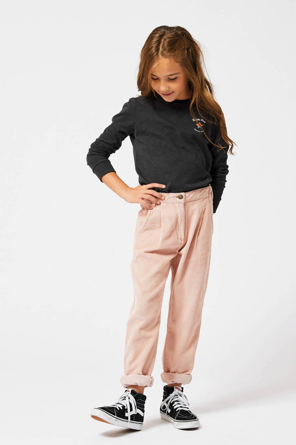 America Today Junior fluwelen regular fit broek Kendall lichtroze, Lichtroze