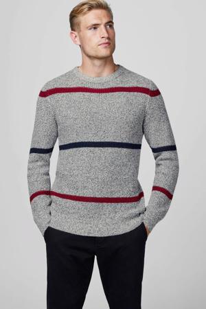 gestreepte trui grijs/blauw/rood