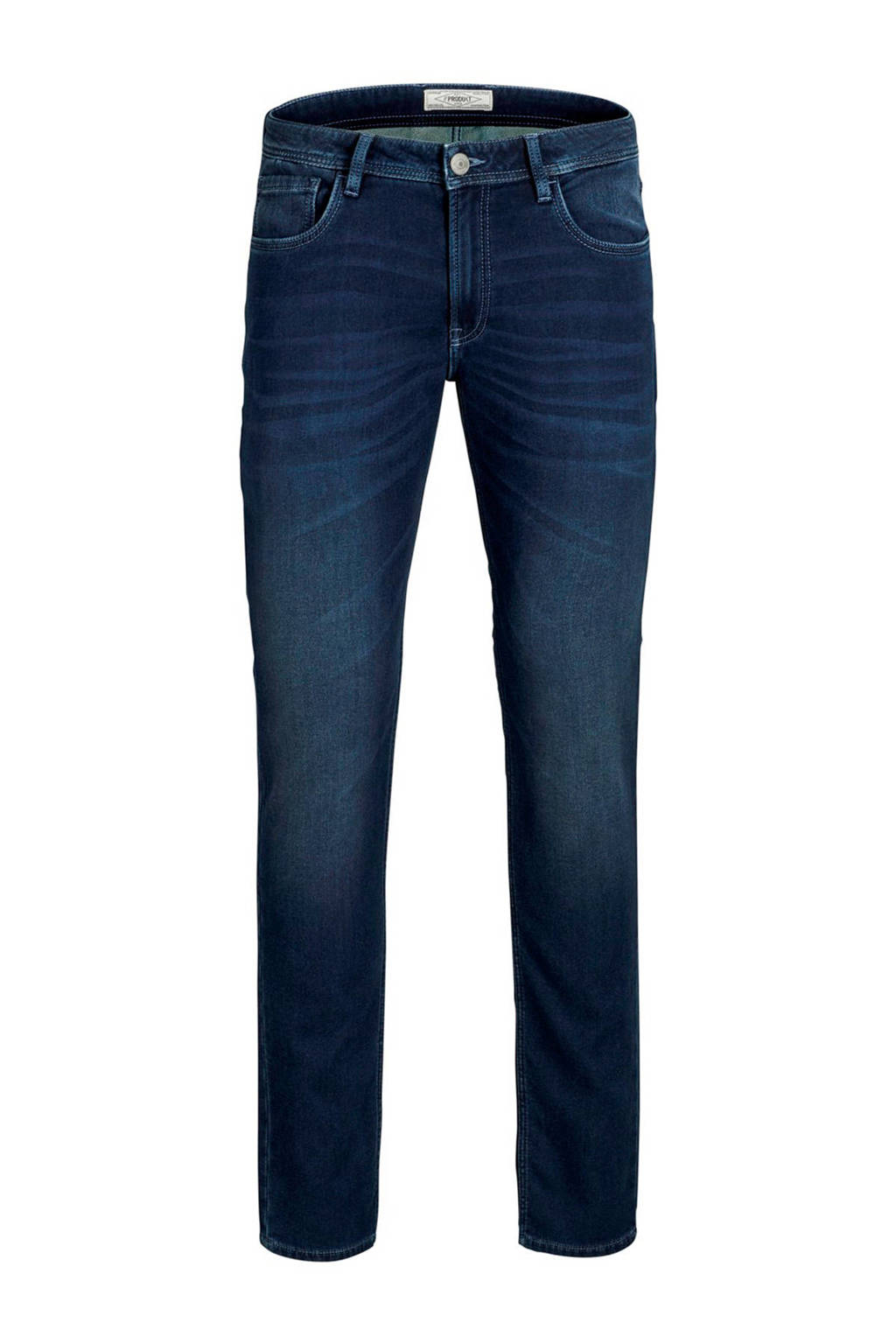 PRODUKT slim fit jeans dark blue denim, Donkerblauw