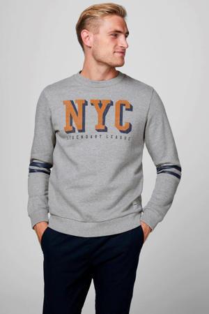 sweater met printopdruk grijs