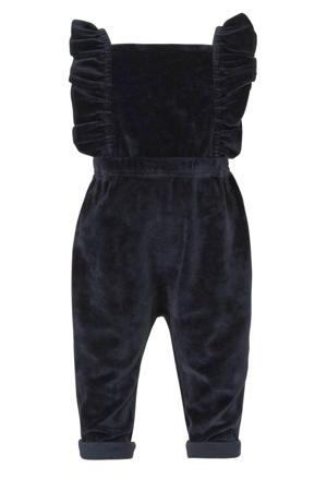 fluwelen jumpsuit donkerblauw