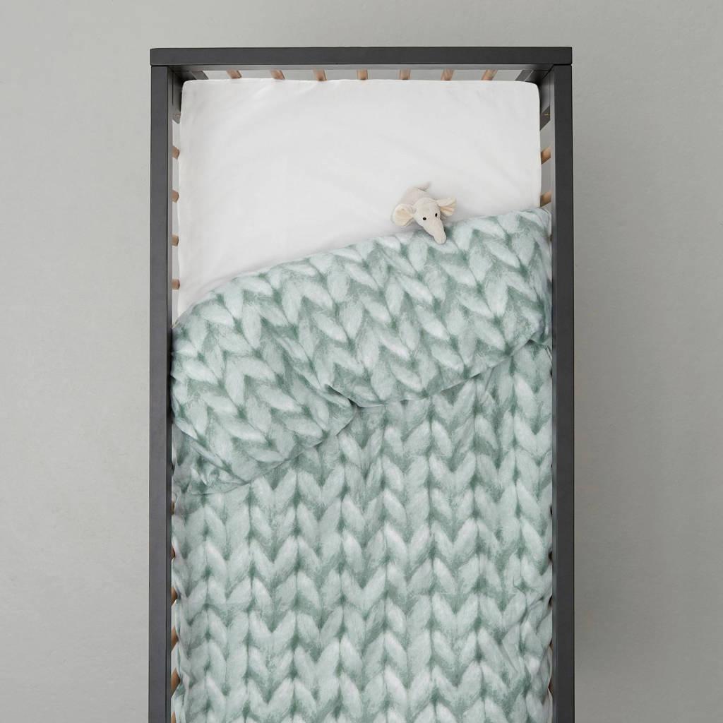 wehkamp home ledikant dekbedovertrek, Baby (100 cm breed), Groen