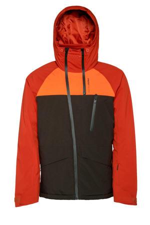 ski-jack Kikham bruin/oranje
