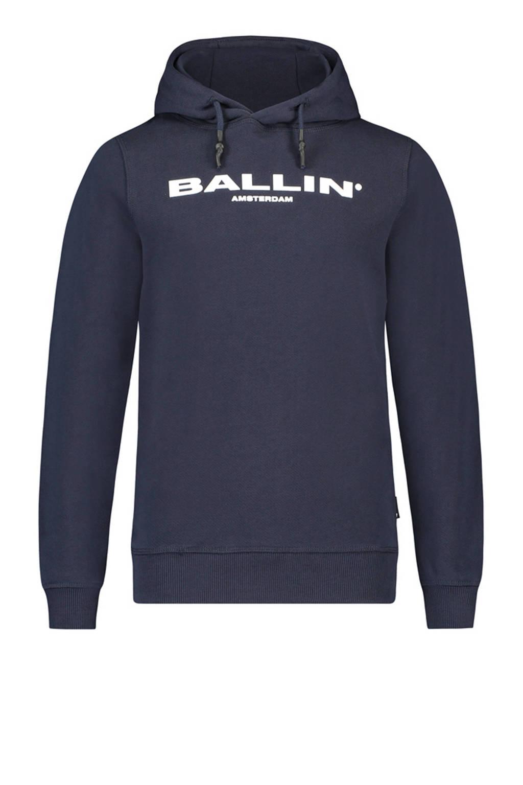 Ballin hoodie met logo donkerblauw, Donkerblauw