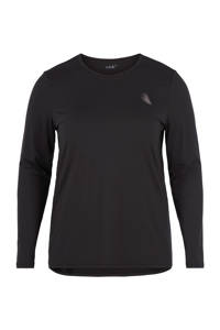 ACTIVE By Zizzi Plus Size sport T-shirt zwart, Zwart