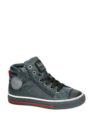 Brave 1 leren sneakers antraciet