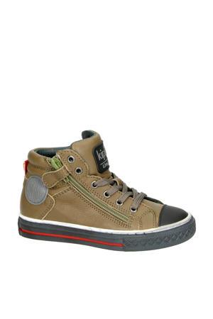 Brave 1 leren sneakers kaki
