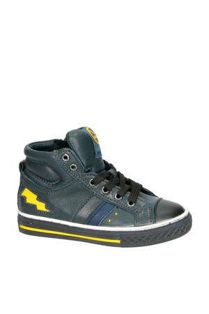Basket 1 leren sneakers zwart/geel