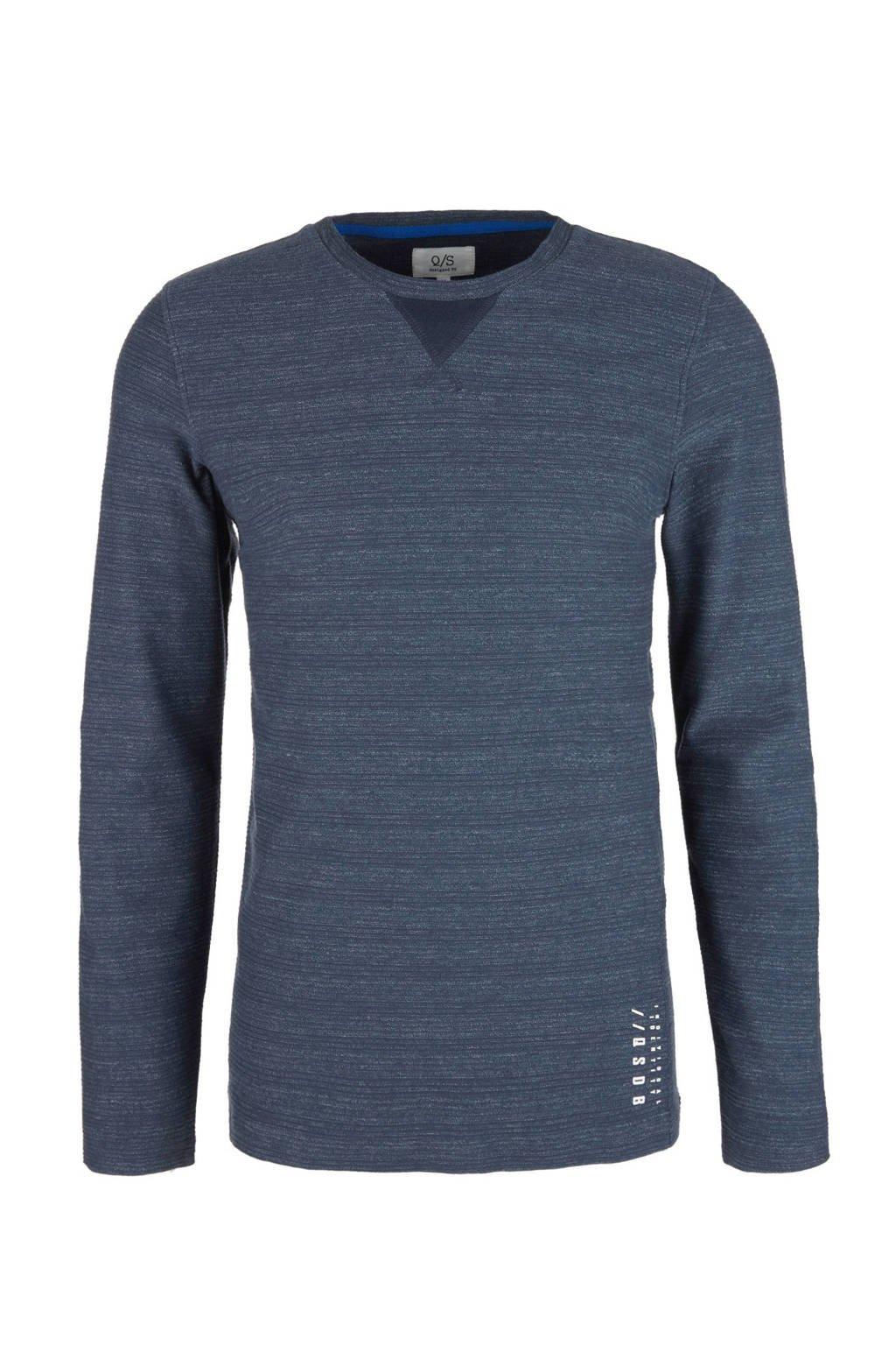 Q/S designed by gemêleerd T-shirt donkerblauw, Donkerblauw
