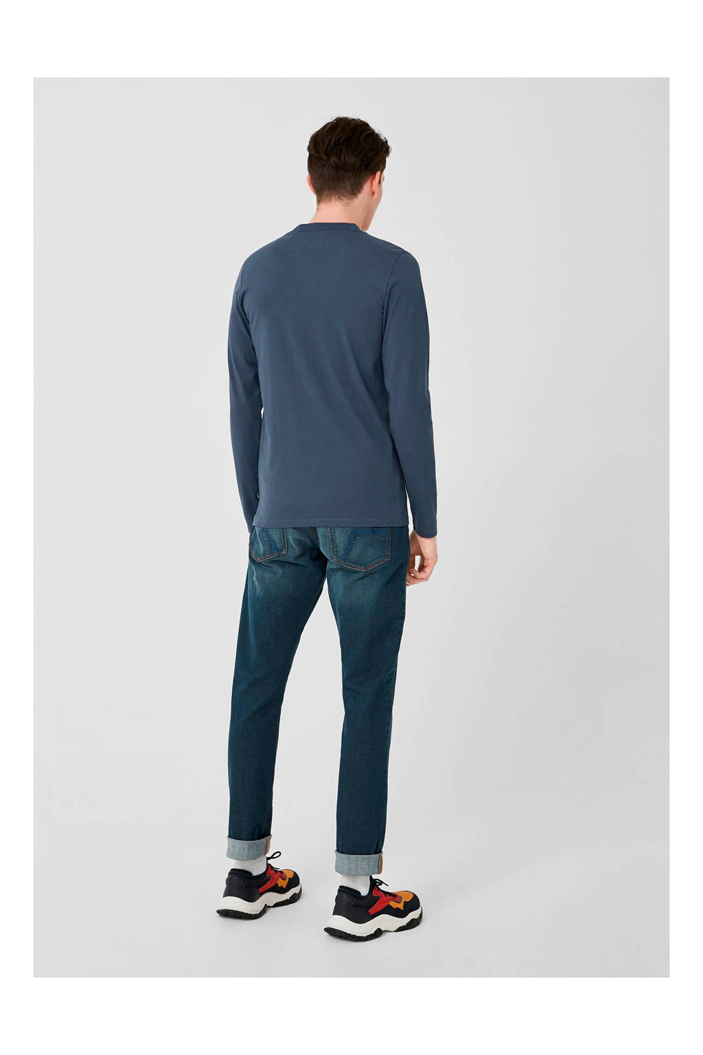 Q/S designed by T-shirt met printopdruk donkerblauw, Donkerblauw