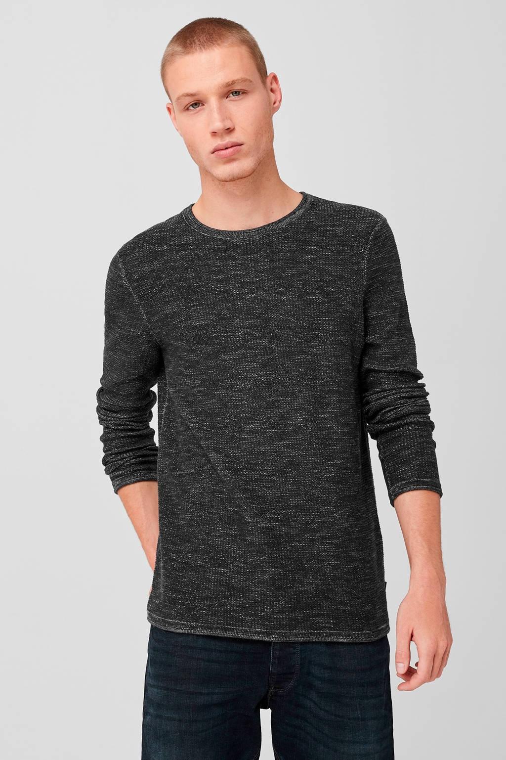 Q/S designed by gemêleerd T-shirt zwart, Zwart