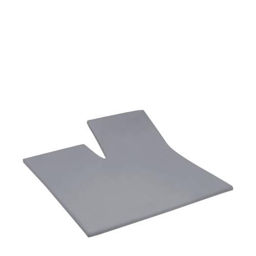 Hoeslaken double jersey splittopper 180 x 200-210cm grey (tot 12 cm) Damai