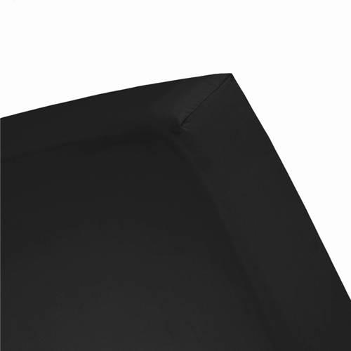 Hoeslaken double jersey 1 pers. 80-90x200-220cm & 100x200cm black (tot 25 cm) Damai