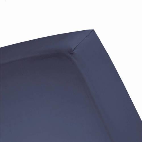 Hoeslaken double jersey 1 pers. 80-90x200-220cm & 100x200cm dark blue (tot 25 cm) Damai